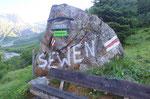 .... qui parte il sentiero per la Sewenhütte