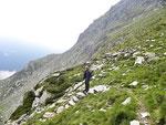 Discesa dalla Forcarella di Lago all'Alpe di Lago