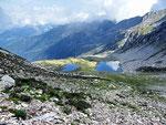Laghi di Roggio dalla Bocchetta del Lago 2135 m