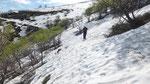 Sul sentiero nella Val Serdena abbiamo trovato ancora tanta neve
