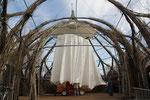 Zelt in Kuppel einhängen