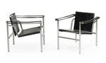 LE CORBUSIER, Paar LC1 Basculant Stühle, Modell von 1928, CHF 1'680, Juni 2015