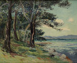 "MAXIME MAUFRA, ""Les Vieux Sapins (ile St. Honorat) Alpes Maritimes"", CHF 38'400, June 2014"