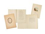 HERMANN HESSE, Teile einer Gedichtsammlung mit 2 Manuskripten, Titelvignetten und Aquarell, CHF 20'400, June 2014