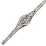 Diamant-Brillant-Bracelet Platin, Paris um 1960, CHF 26'400, June 2014