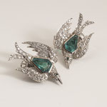 1 Paar Smaragd-Diamant-Ohrclips 18K WG, CHF 8'640, June 2009