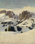 PLINIO COLOMBI, Winterlandschaft in den Dolomiten, CHF 26'400, June 2011