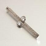 Brillant-Diamant-Stabbrosche, Platin 950, um 1920, wohl Bossard Luzern, CHF 13'200, November 2009