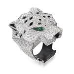 """Brillant-Farbstein-Ring 18K WG, """"Panthère"""" von Cartier, CHF 110'000, November 2015"""