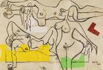 LE CORBUSIER, Trois nus féminins (deux allongés et un debout, CHF 26'400, June 2015