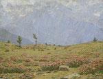 EMILIO LONGONI, Sommerliche Alplandschaft mit weidenden Kühen, CHF 108'000, November 2014