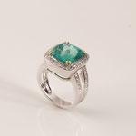 Smaragd-Brillant-Ring 18K WG/GG, CHF 13'200, November 2009