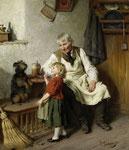 FELIX SCHLESINGER, Der Grossvater mit dem Enkel und einem Hund, CHF 90'000, November 2011