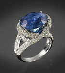 Saphir-Brillant-Ring 18K WG, CHF 66'000, June 2011