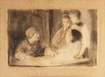 """ALBERT ANKER, Skizze zum Gemälde """"Die Kartenlegerin"""", CHF 33'600, Juni 2009"""