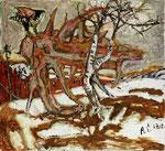 ALOIS CARIGIET, Der Falke auf dem Baumstrunk, CHF 88'800, Juni 2013