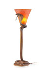"EDGAR WILLIAM BRANDT, Tischlampe Modell ""Cobra"", Frankreich, um 1925, CHF 31'200, June 2014"