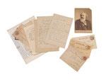 JOHANNES BRAHMS, Grosses Lot von 12 eigenhänd. Briefen, zwei Karten, Briefumschlag, Portraitfoto, CHF 26'400, June 2014