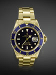"Herrenarmbanduhr, ROLEX ""Submariner"", 18K GG, CHF 14'400, June 2012"