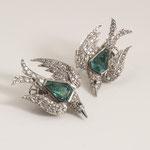 1 Paar Smaragd-Diamant-Ohrclips 18K WG, CHF 8'640, Juni 2009