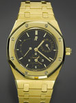 "Herrenarmbanduhr der Marke AUDEMARS PIGUET ""Royal Oak Dual Time"", 18K GG, CHF 24'000, November 2009"