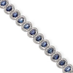 Saphir-Brillant-Bracelet 18K WG, CHF 15'000, November 2013
