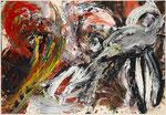 """Lucio Fontana, """"Abstrait noir sur fond vert"""", CHF 33'600, June 2009"""