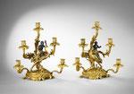 Ein Paar Tischleuchter im Louis-XV.-Stil, Frankreich, 19. Jh., CHF 7'920, Juni 2009