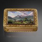 Golddose mit Emailmalerei, Westschweiz, Mitte 19. Jh., CHF 16'800, Juni 2013