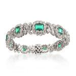 Smaragd-Brillant-Bracelet 18K WG, CHF 13'200, June 2015