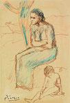 Pablo Picasso, Femme et enfant assis, CHF 140'900, Juni 2007