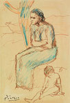 Pablo Picasso, Femme et enfant assis, CHF 140'900, June 2007