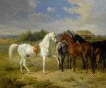ALBRECHT ADAM, Pferde auf der Weide, CHF 31'200, Juni 2012