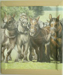 Pferdestärke 45x55 Eingerahmt /  Bild würde über Rahmen weiter gemahlt 2004 ---CHF 1'850---
