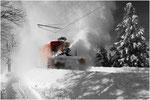 Schneeschleuder