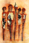 Acryl/Collage auf Papier     100 x 70     1997