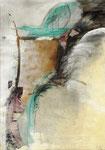 Acryl/Collage auf Leinwand 70 x 100 cm -  1989