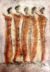 Acryl auf Papier     100 x 70 cm     2003