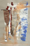 Acryl/Collage auf Papier     45 x 30 cm     1997