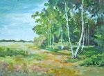 Holmer Moor - Öl auf Leinen - 1993 - unverkäuflich
