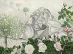 April Der Kamecke Brunnen und seine Rosen von Dorothea Hornung