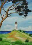 Leuchtturm Hiddensee - Aquarell 50x40 cm verkäuflich