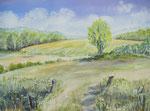 Landschaft Schleswig-Holstein - Aquarell 30x40 cm