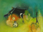 Flos Hütte - Acryl auf Leinwand 60x80 cm verkäuflich