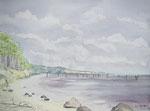 Küste Alsen - Aquarell 30x40 cm