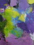 Erwachendes Grün - Acryl auf Leinwand 70x50 cm verkäuflich