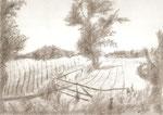 Landschaft1 - Bleistift 30 x 40 cm unverkäuflich