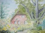 Bauerngarten - Aquarell 30x40 cm