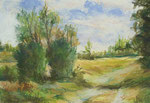 In der Barker Heide - Pastellkreide auf Karton 30x40 cm - 1988 - unverkäuflich