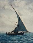 Segelschiff - Öl auf Leinwand 50 x 40 cm - verkäuflich